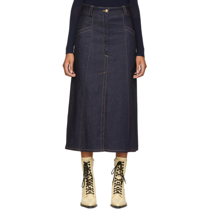 Nina Ricci Blue Denim Skirt