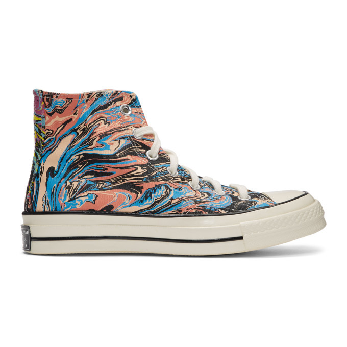 Photo: Converse Multicolor Marble Chuck 70 High Sneakers