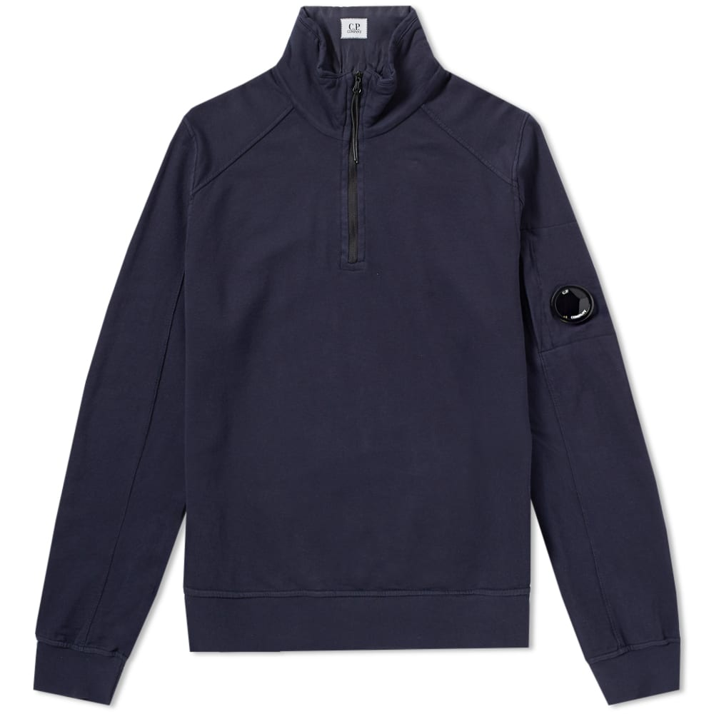 C.P. Company Garment Dyed Light Fleece Half Zip Sweat