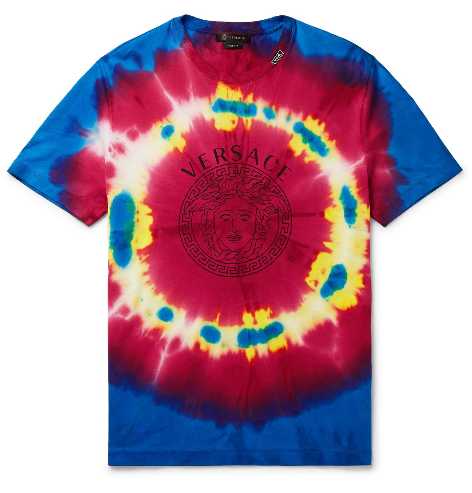 Photo: Versace - Slim-Fit Tie-Dyed Cotton-Jersey T-Shirt - Multi