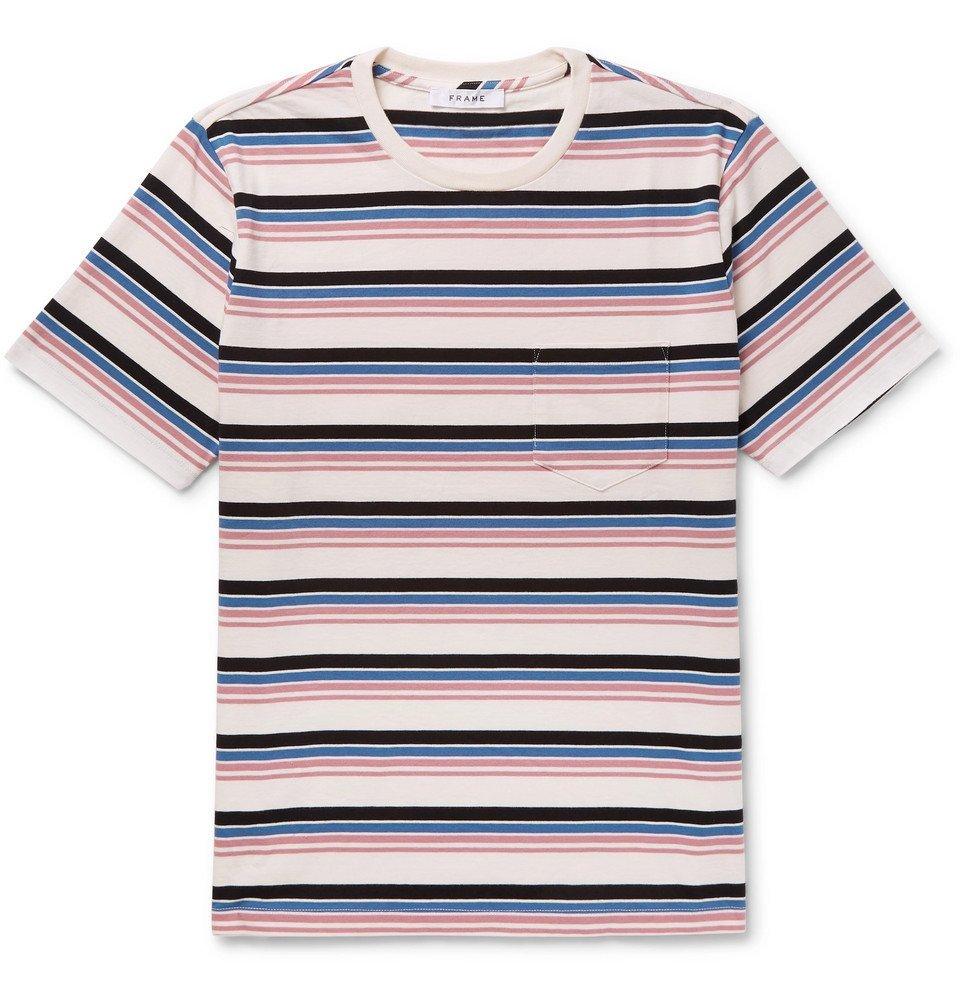 Photo: FRAME - Striped Cotton-Jersey T-Shirt - Multi
