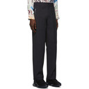 3.1 Phillip Lim Navy Straight-Leg Zipper Pocket Trousers