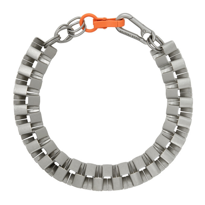 Photo: Heron Preston Silver Cubic Necklace