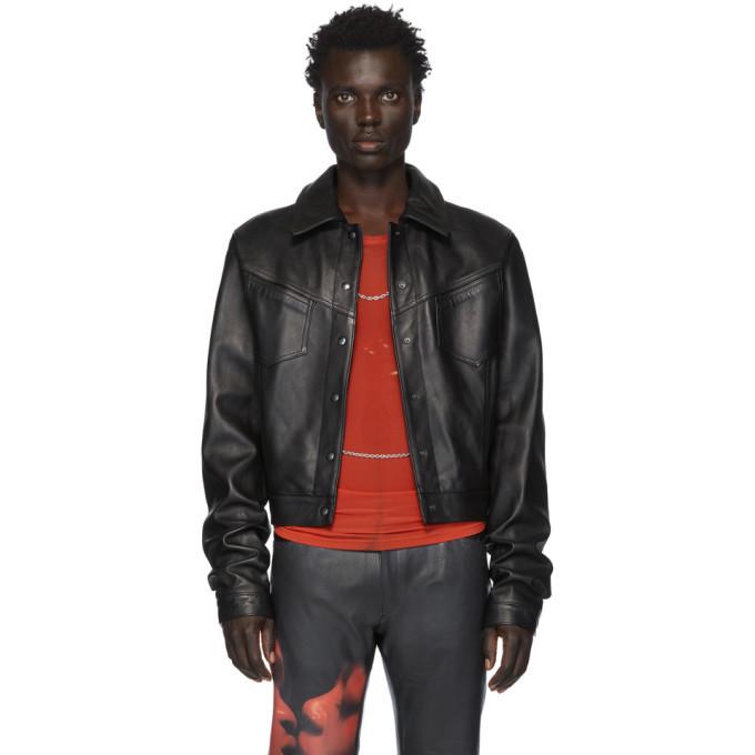 Photo: Mowalola Black Leather LC Jacket