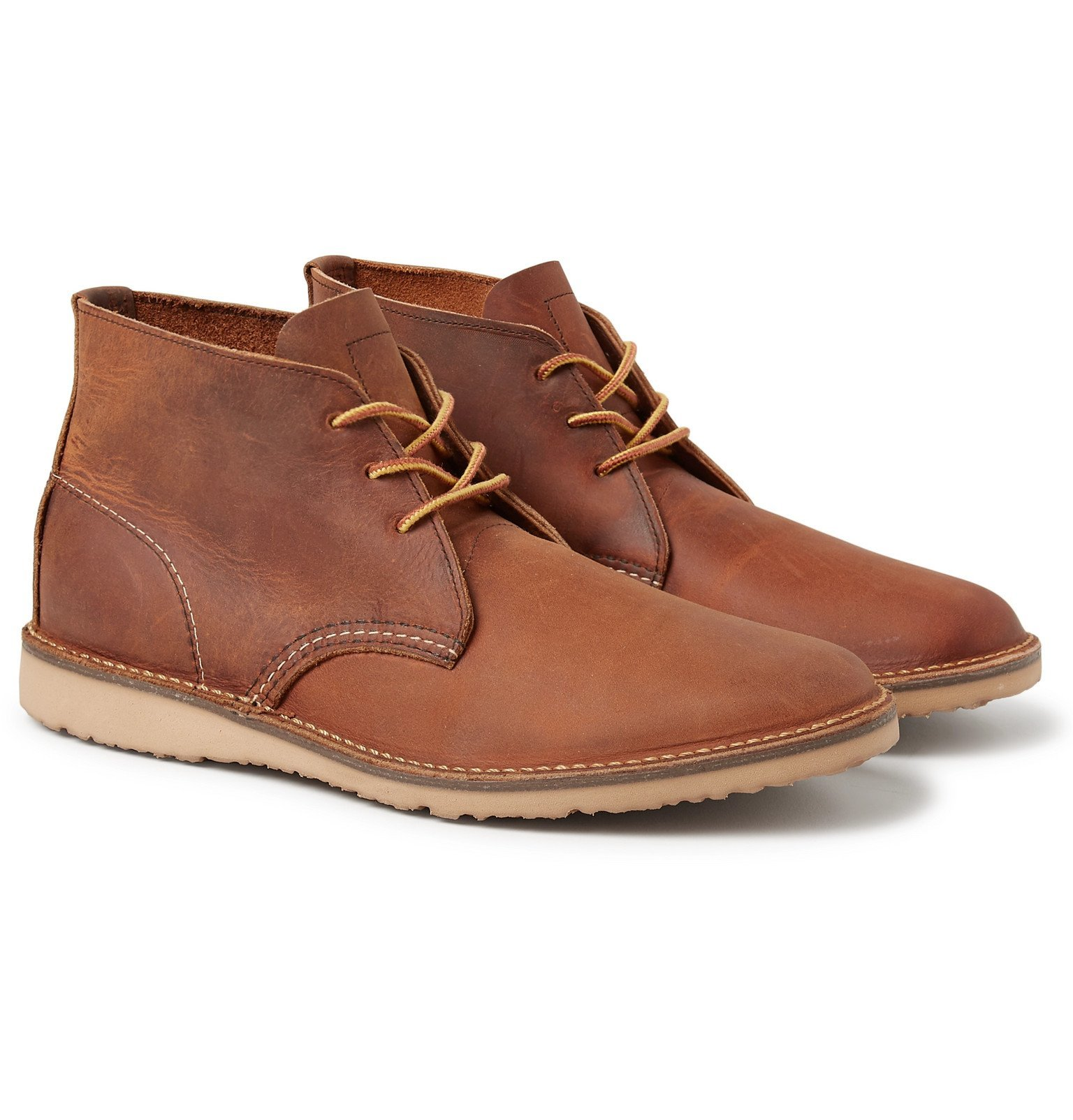 Photo: Red Wing Shoes - Weekender Burnished Leather Chukka Boots - Brown