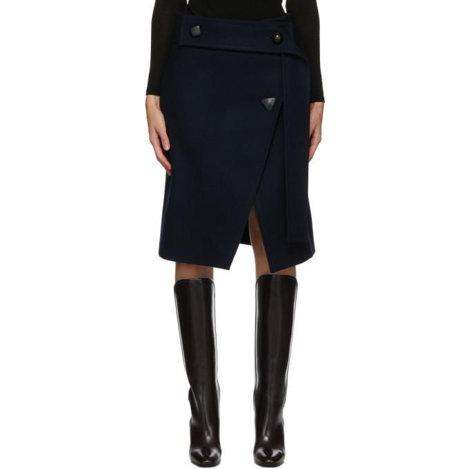 Stella McCartney Navy Wool Paula Skirt