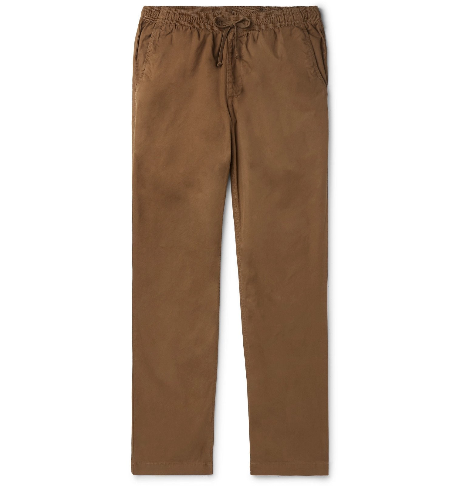 Photo: Save Khaki United - Easy Slim-Fit Cotton-Twill Drawstring Chinos - Brown