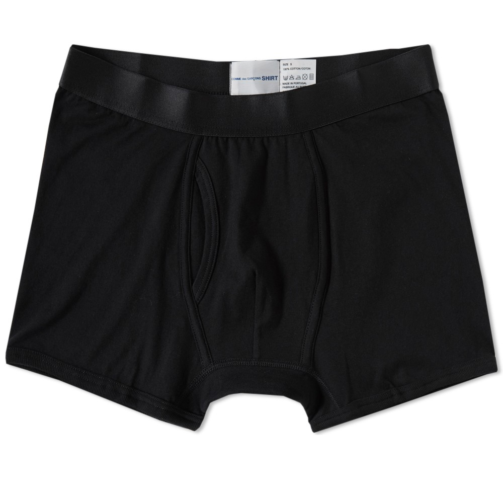 Photo: Comme des Garcons SHIRT x Sunspel Jersey Trunk Black