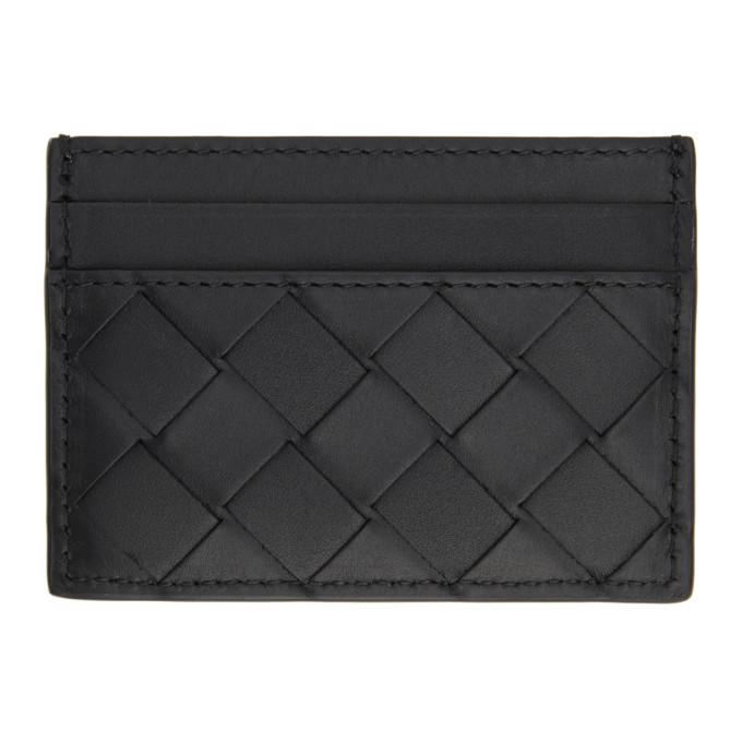 Photo: Bottega Veneta Black Intrecciato Card Holder