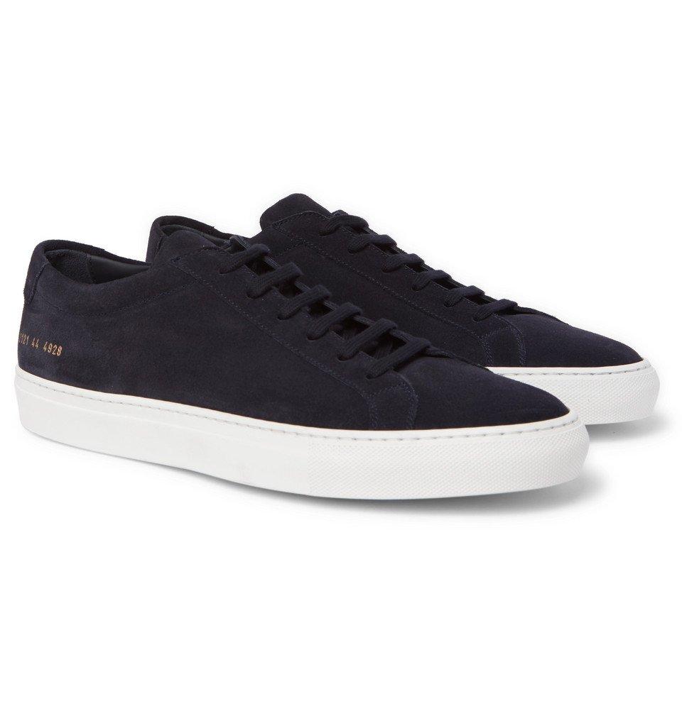 Common Projects - Original Achilles Suede Sneakers - Men - Navy