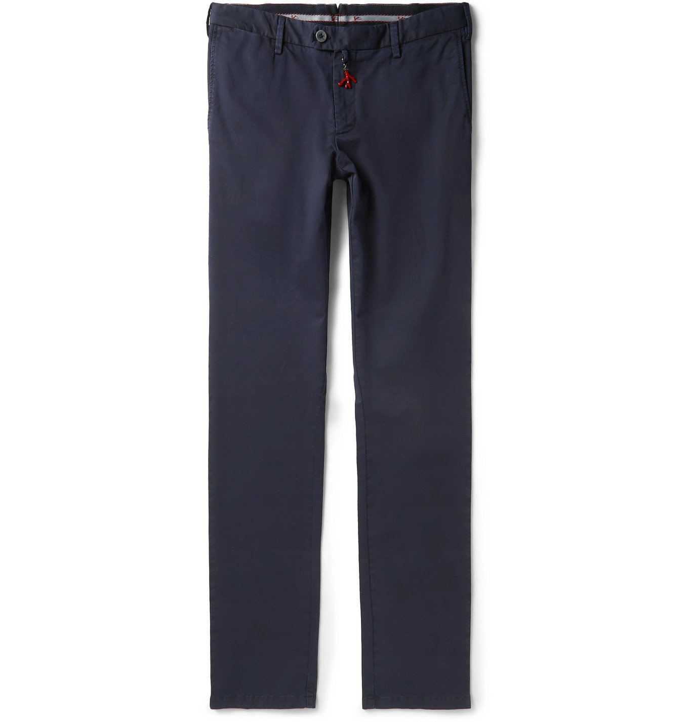 Photo: Isaia - Slim-Fit Stretch-Cotton Twill Chinos - Blue