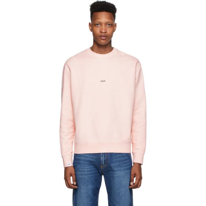 Photo: MSGM Pink Fleece Logo Sweatshirt