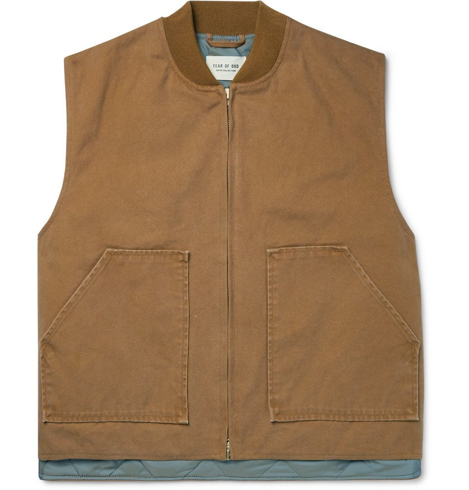 Photo: Fear of God - Cotton-Canvas Gilet - Brown