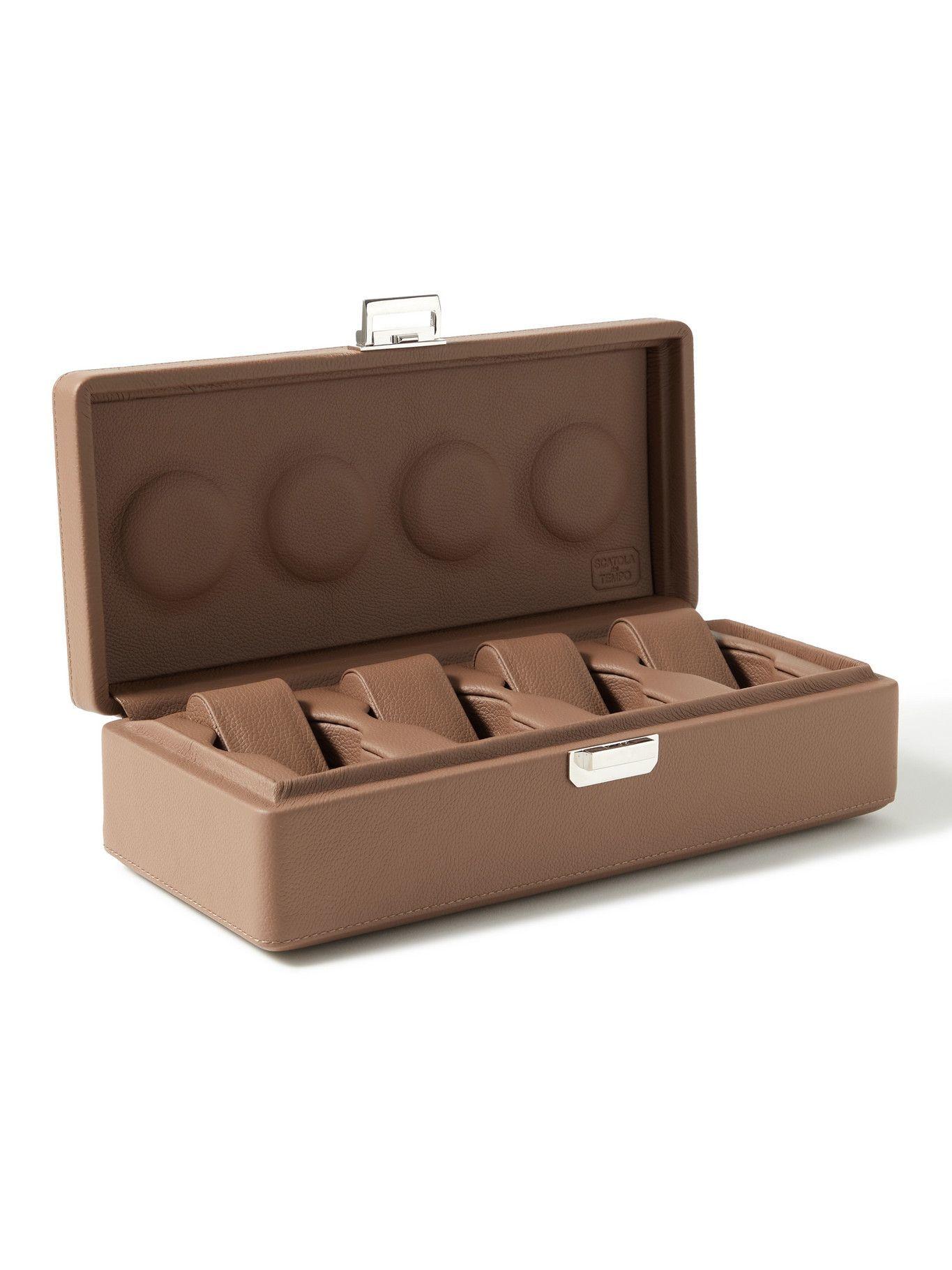 Photo: Scatola del Tempo - Full-Grain Leather Watch Box