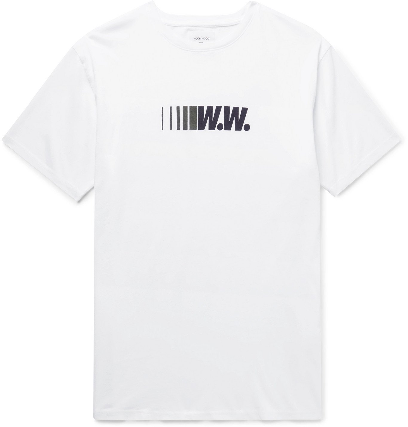 Photo: Wood Wood - Logo-Print Organic Cotton-Jersey T-Shirt - White