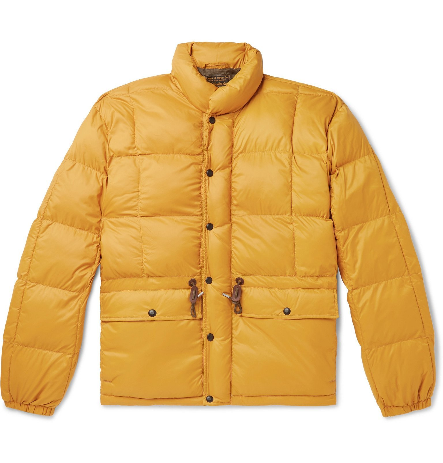 Photo: RRL - Quilted Padded Nylon Jacket - Yellow