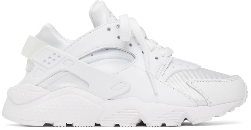 Photo: Nike White Air Huarache Sneakers