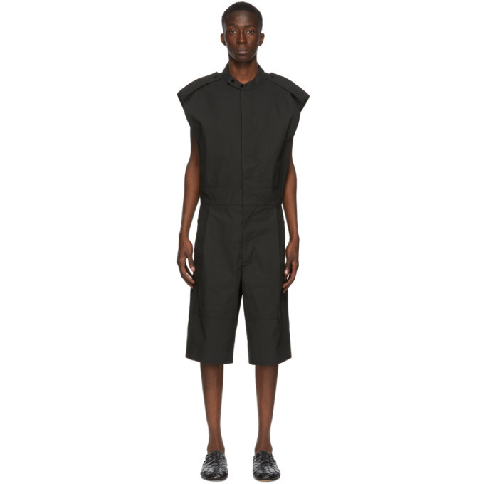 Photo: Bottega Veneta Black Coated Twill Jumpsuit