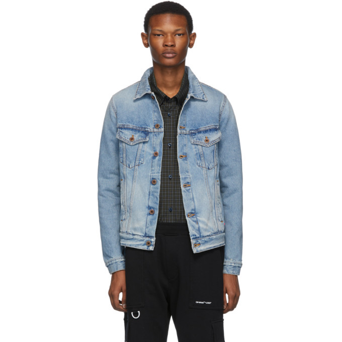 Photo: Off-White Blue Denim Slim Bleached Jacket