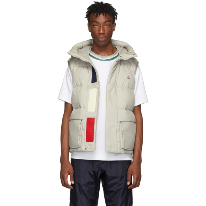 Photo: Moncler Off-White Down Lafage Vest