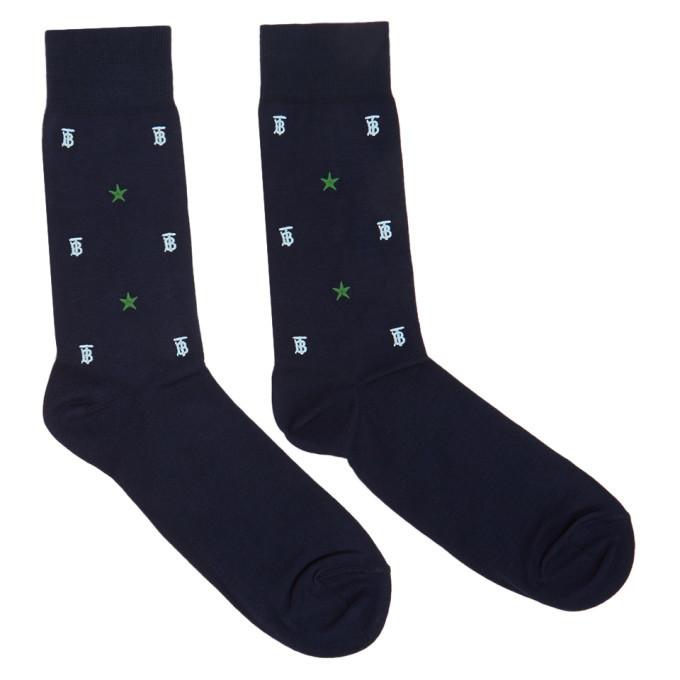 Photo: Burberry Navy TB Monogram Star Socks