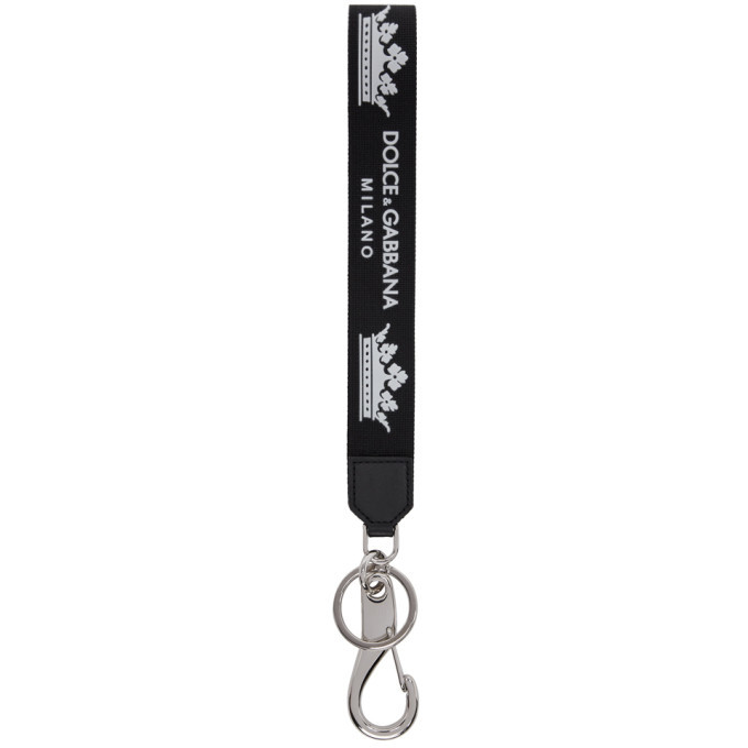 Photo: Dolce and Gabbana Black Strap Keychain