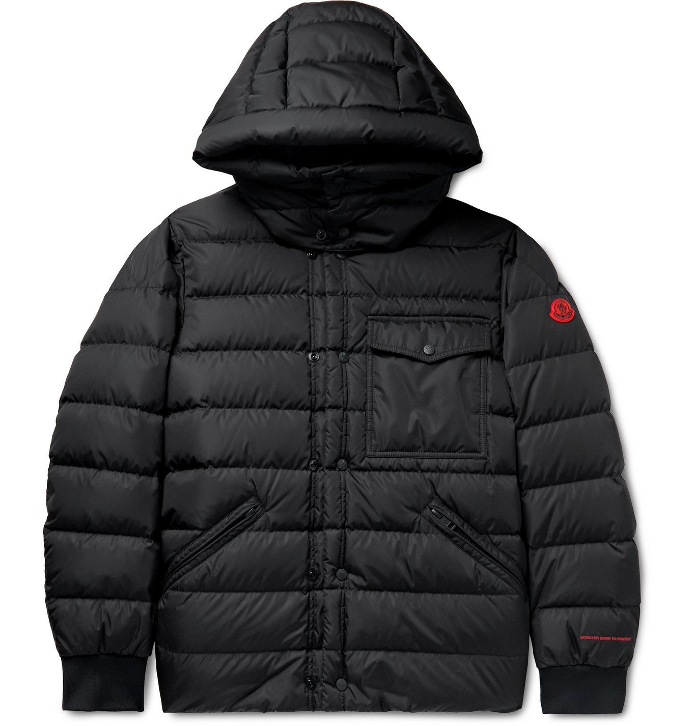Photo: MONCLER - Quilted ECONYL Hooded Down Jacket - Black