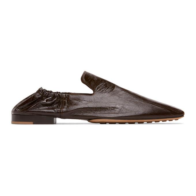 Photo: Bottega Veneta Black Leather Square Toe Loafers