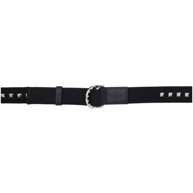 Photo: Valentino Black Valentino Garavani Rockstud Buckle Belt