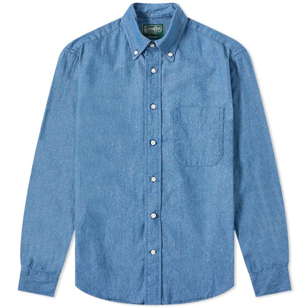 Photo: Gitman Vintage Button Down Denim Shirt