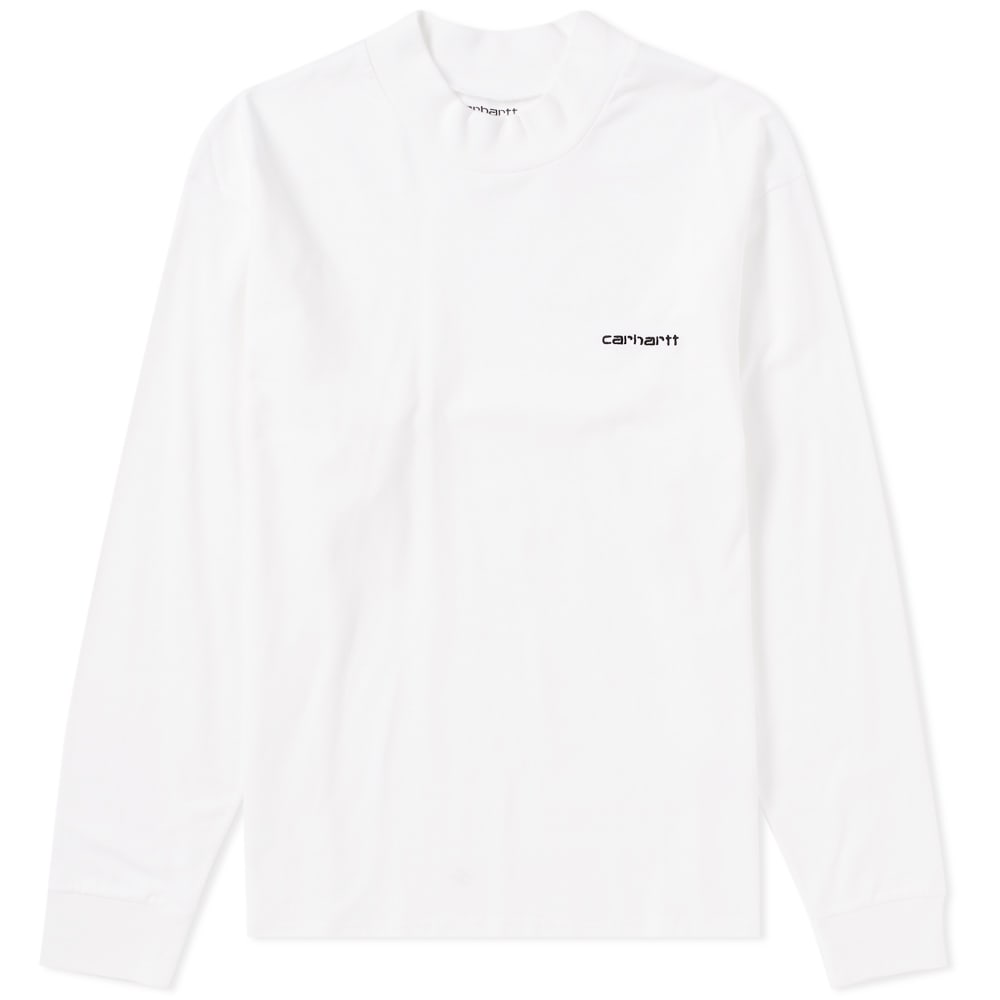 Photo: Carhartt Long Sleeve High Neck Script Tee