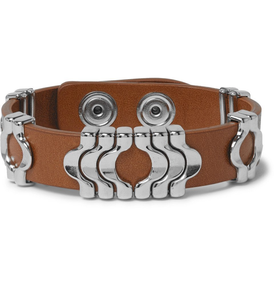 Photo: Isabel Marant - Leather and Silver-Tone Bracelet - Brown