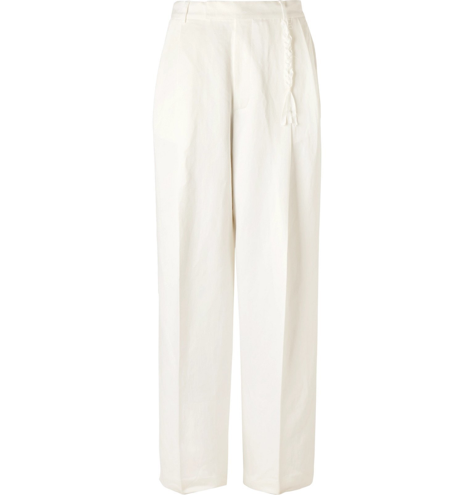 Rochas - Wide-Leg Pleated Gabardine Trousers - Neutrals
