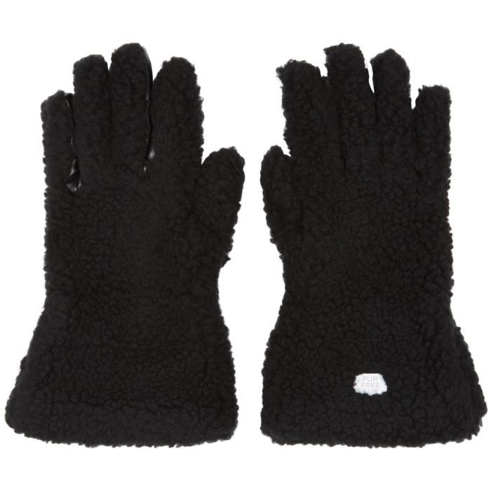 Photo: Stella McCartney Black Faux-Fur Gloves