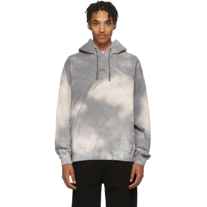 Photo: A-Cold-Wall* SSENSE Exclusive Grey Tie-Dye Hoodie