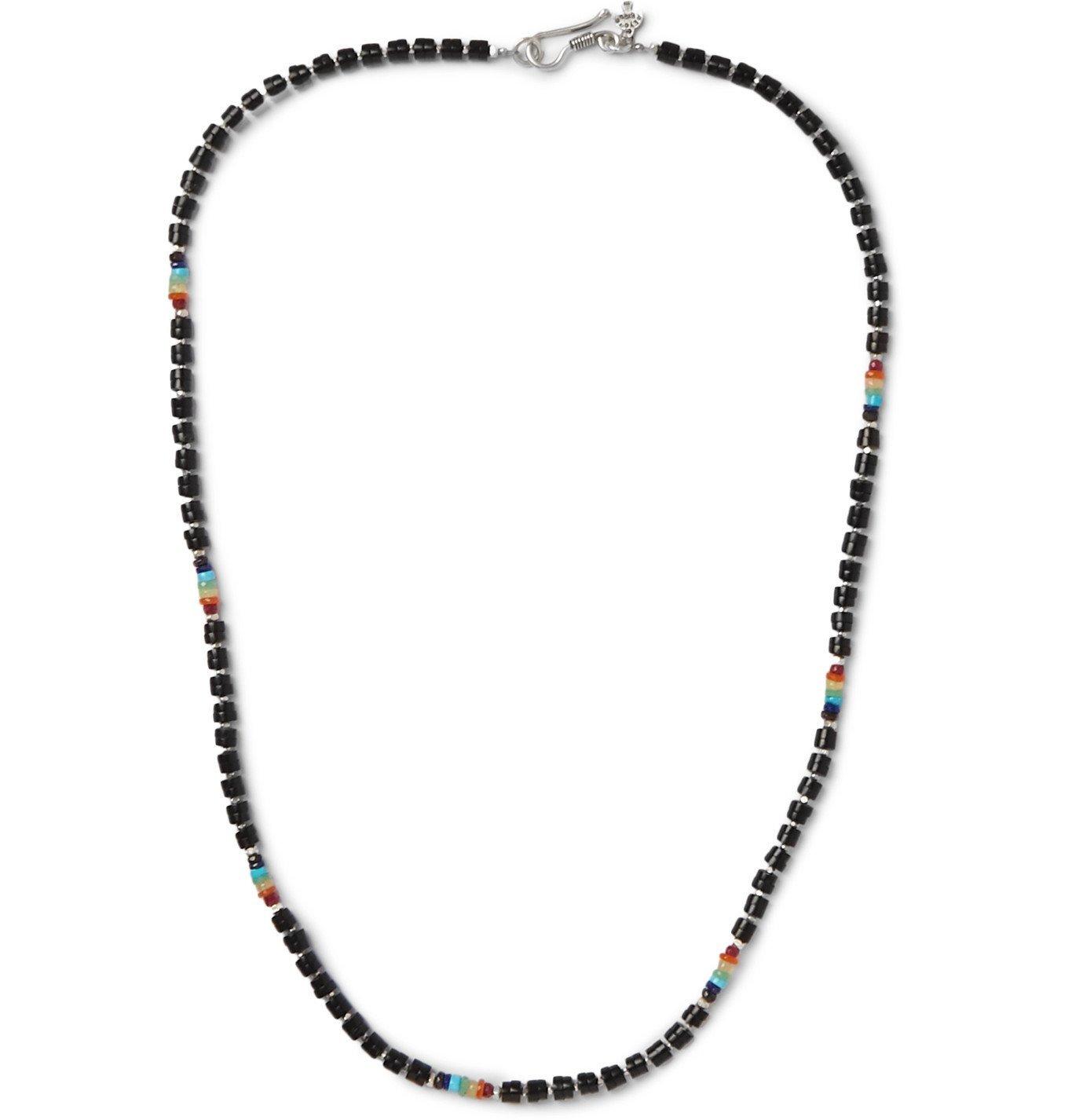 Photo: Peyote Bird - Multi-Stone Beaded Sterling Silver Necklace - Black