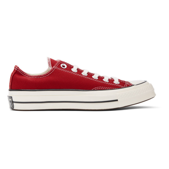 Photo: Converse Red Chuck 70 Low Sneakers