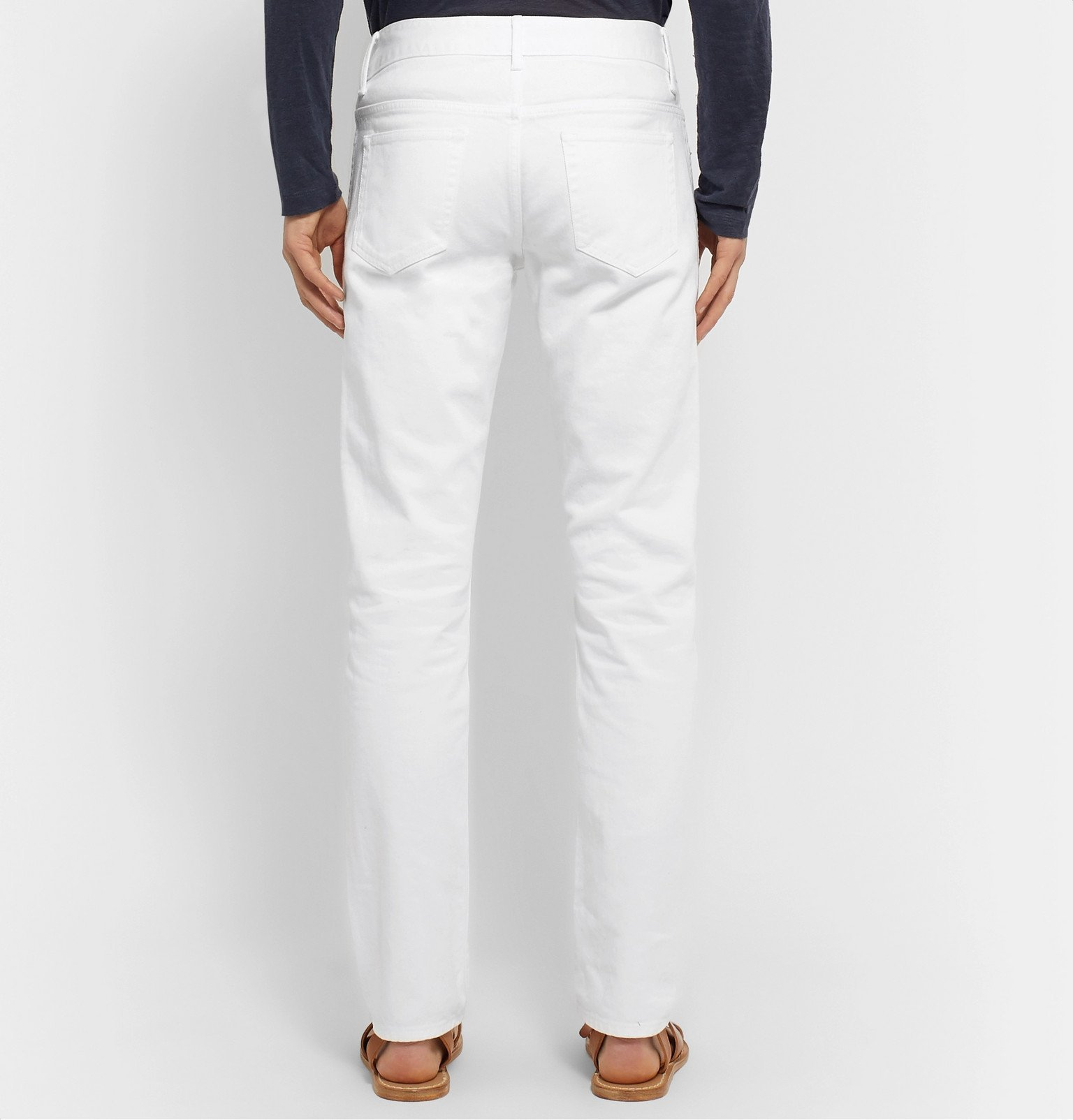 Officine Generale - Kurt Slim-Fit Denim Jeans - White