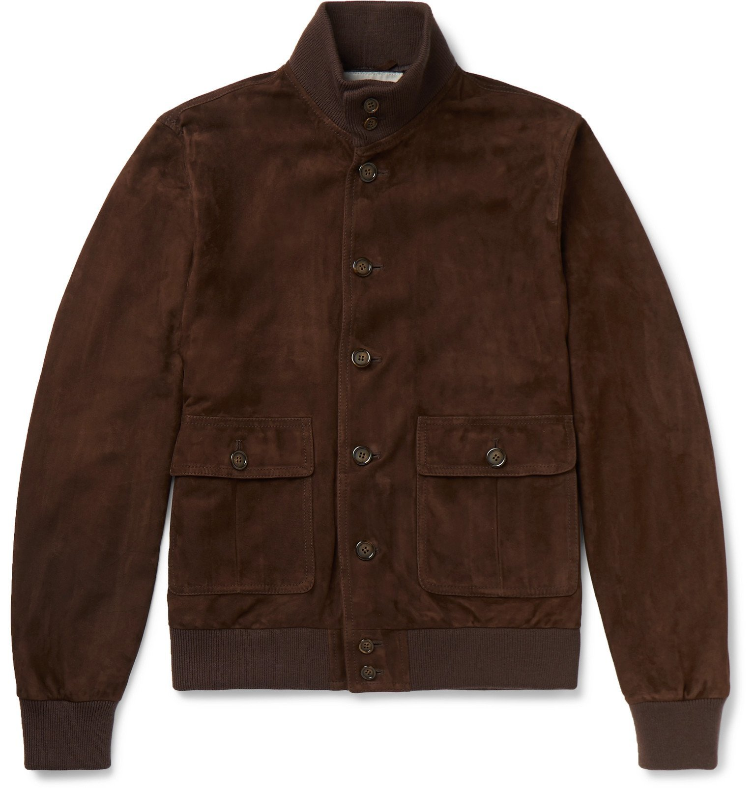 Photo: Valstar - Valstarino Slim-Fit Suede Bomber Jacket - Brown