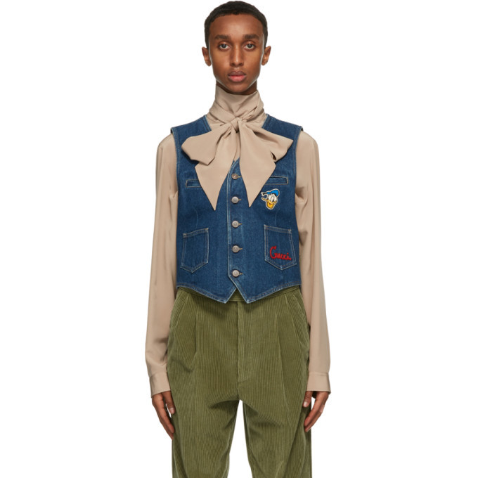 Photo: Gucci Blue Disney Edition Eco-Washed Denim Vest