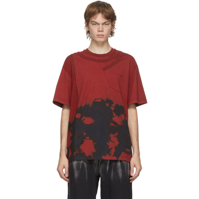 Photo: Feng Chen Wang Red Tie-Dye Panelled T-Shirt