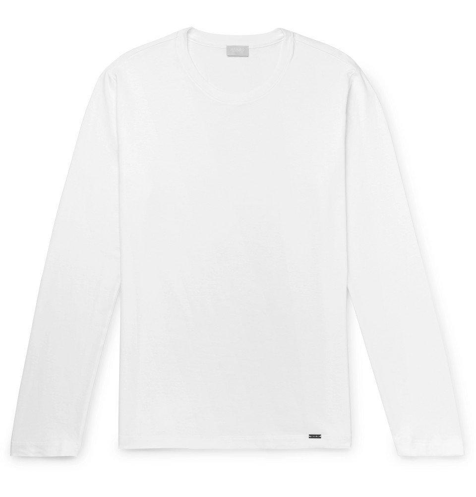 Photo: Hanro - Cotton-Jersey Pyjama T-Shirt - White