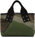 Sacai Green KAWS Edition Small Camo Tote