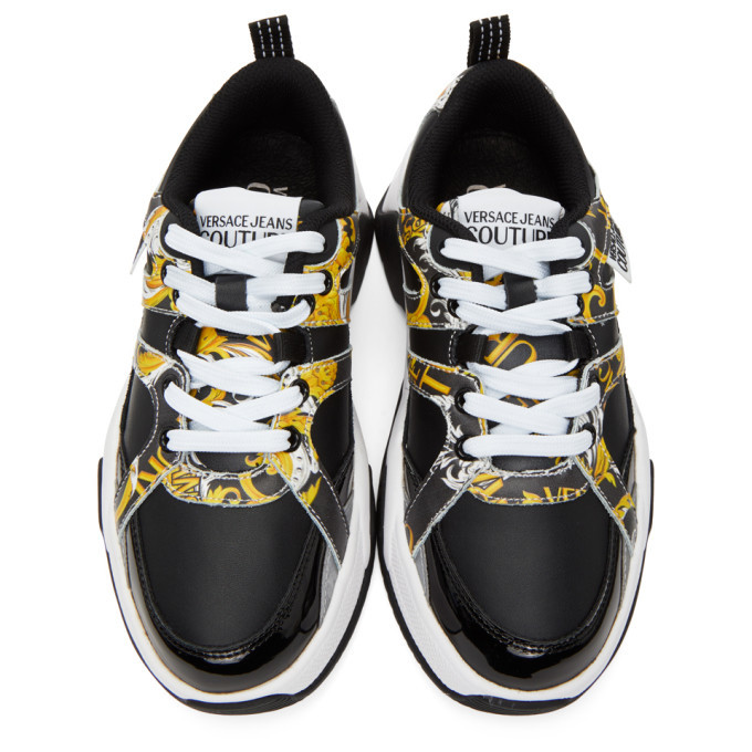 Versace Jeans Couture Black Logo Baroque Sneakers