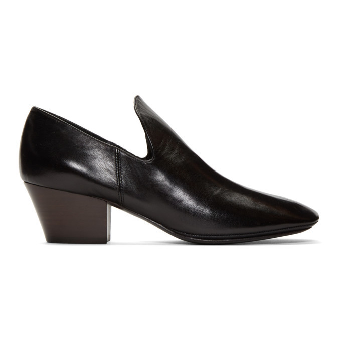 Photo: Lemaire Black Soft Heeled Loafers