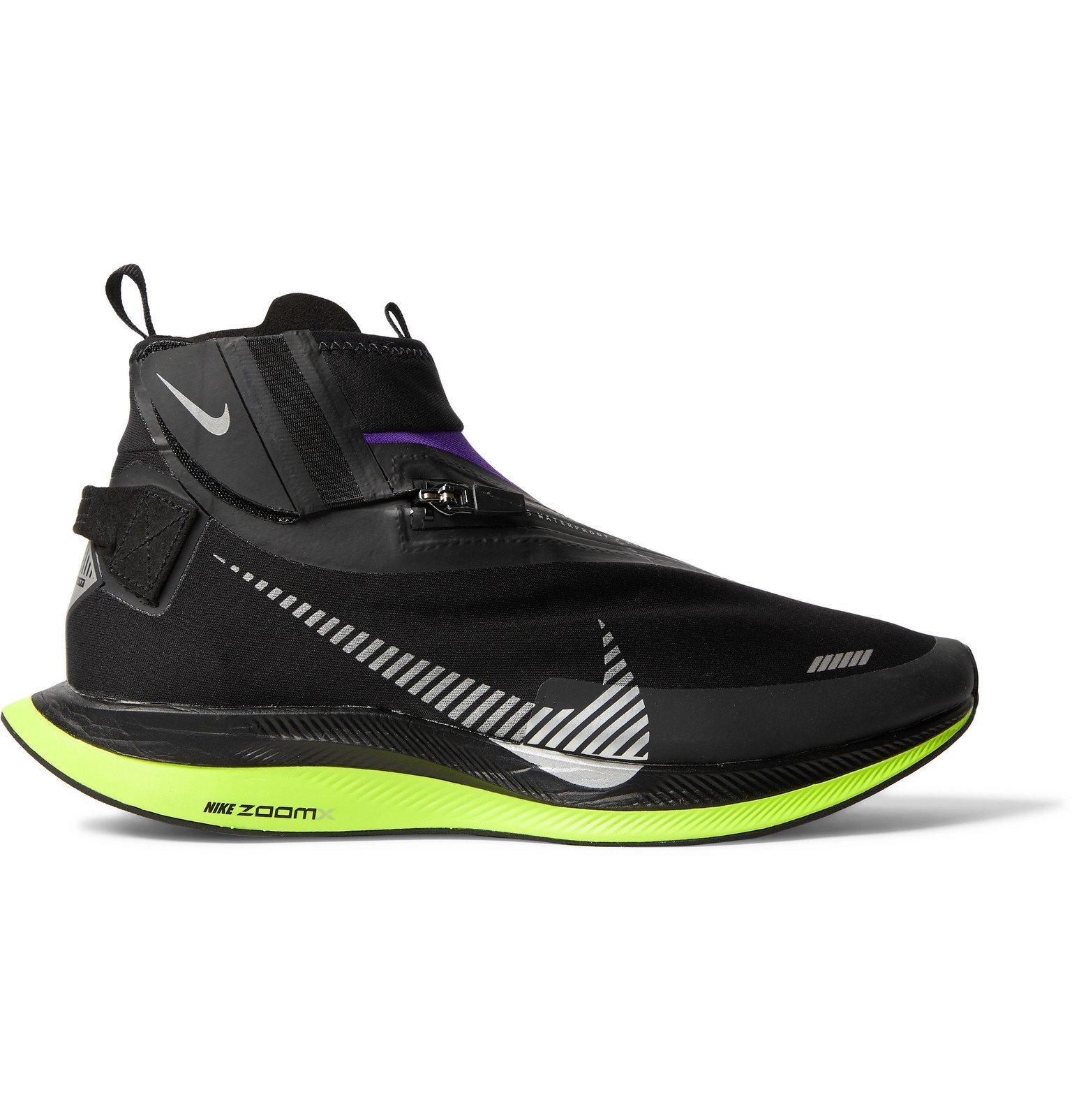 Nike Running - Pegasus Turbo Shield Neoprene High-Top Running Sneakers - Black