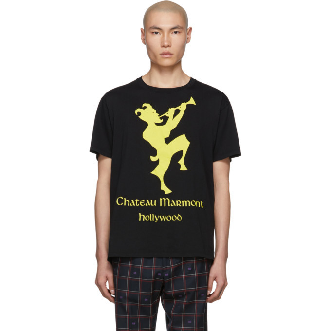Photo: Gucci Black and Yellow Chateau Marmont T-Shirt