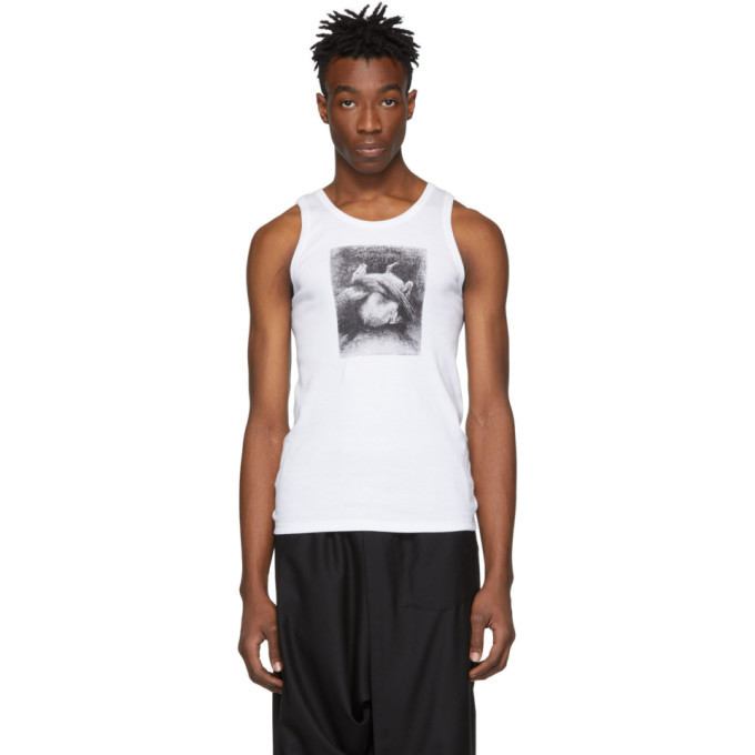 Photo: Ann Demeulemeester White Pegasus Tank Top