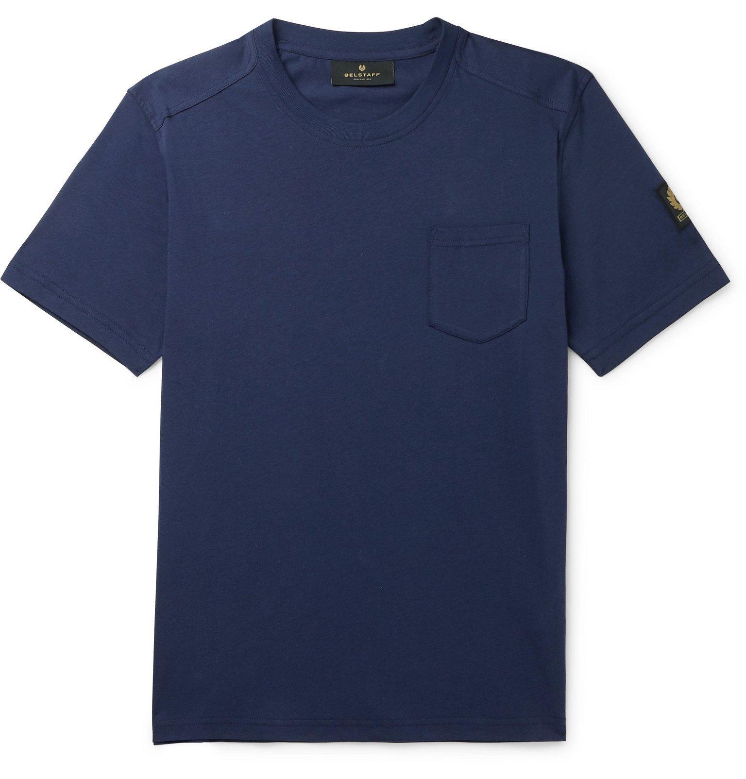 Belstaff - Thom 2.0 Cotton-Jersey T-Shirt - Blue