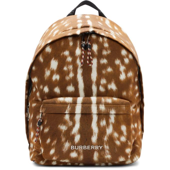 Photo: Burberry Brown Deer Print Jett Backpack